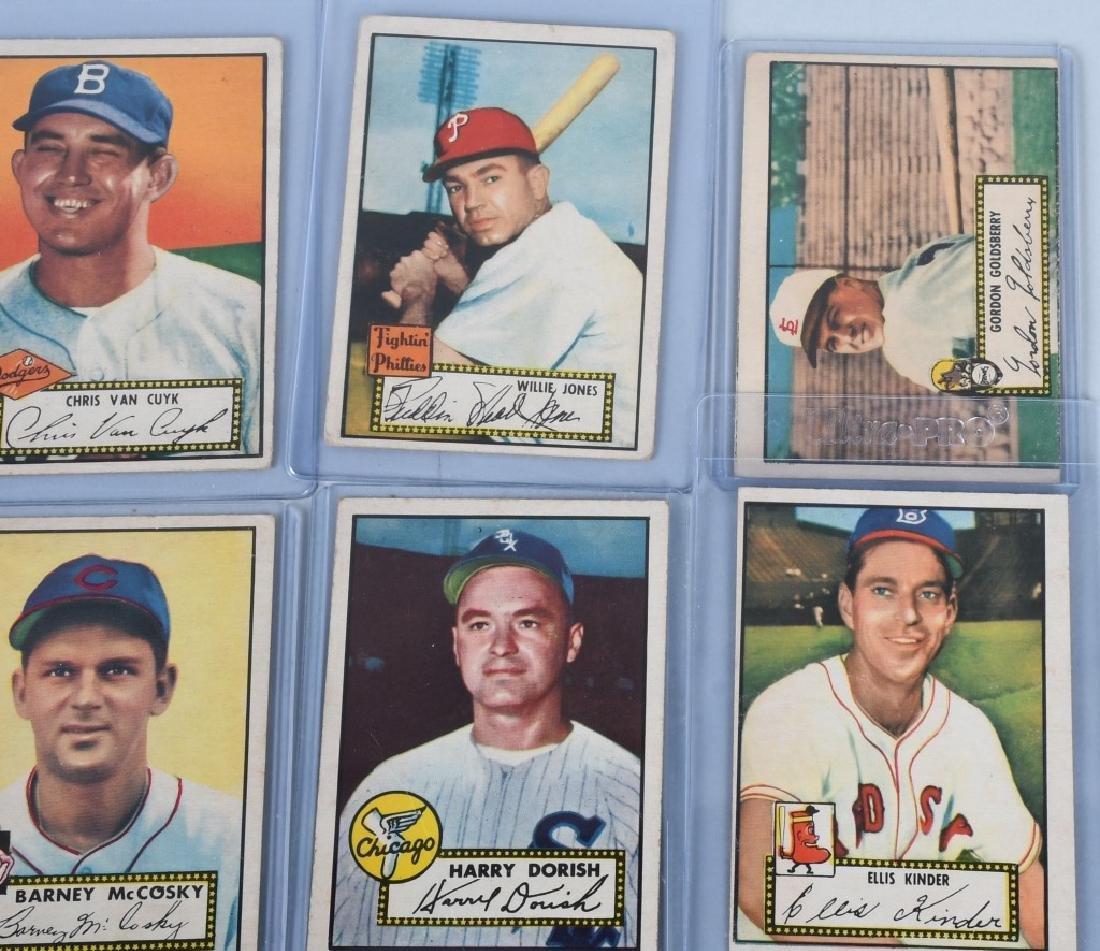1952 TOPPS BASEBALL CARD LOT, - 15 CARDS - 3