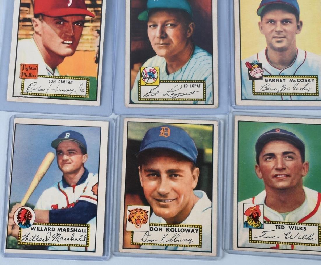 1952 TOPPS BASEBALL CARD LOT, - 15 CARDS - 5