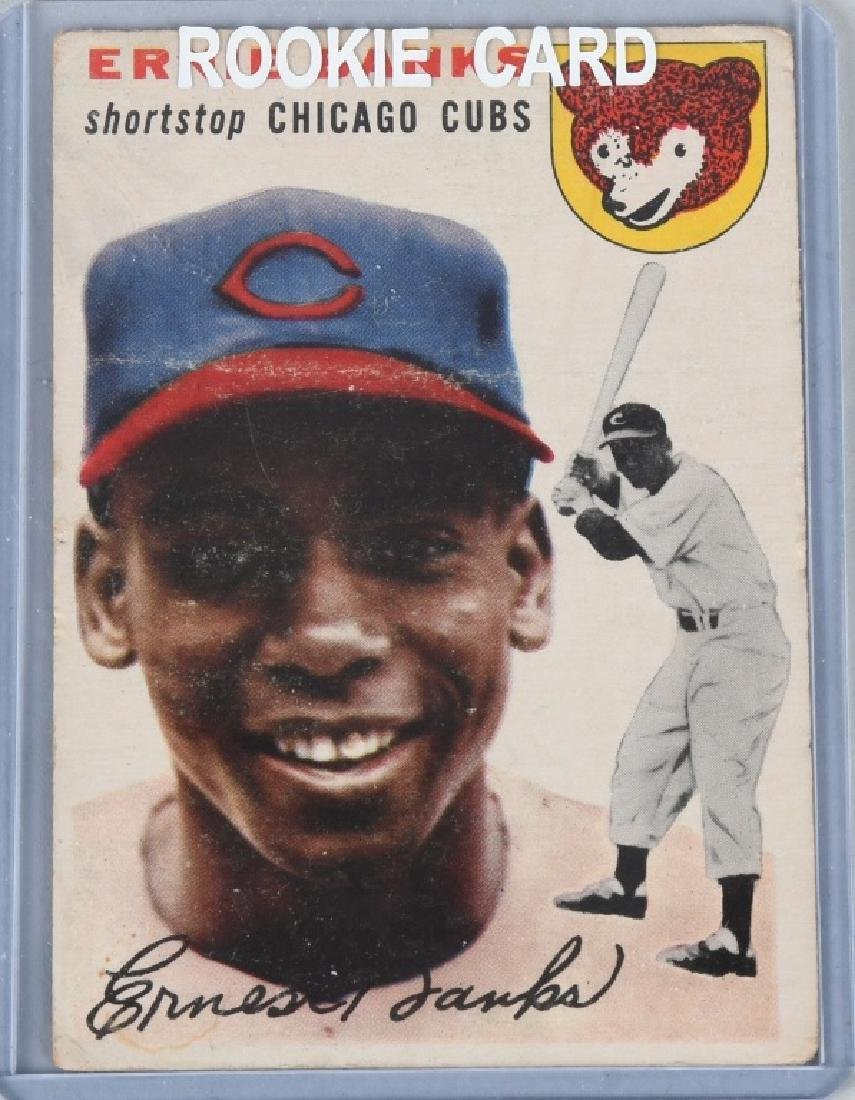 1954 TOPPS STAR ERNIE BANKS ROOKIE BASEBALL CARD