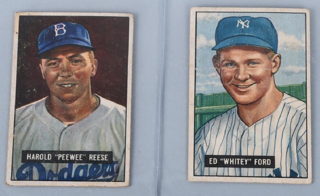 1951 BOWMAN BASEBALL STAR CARD LOT