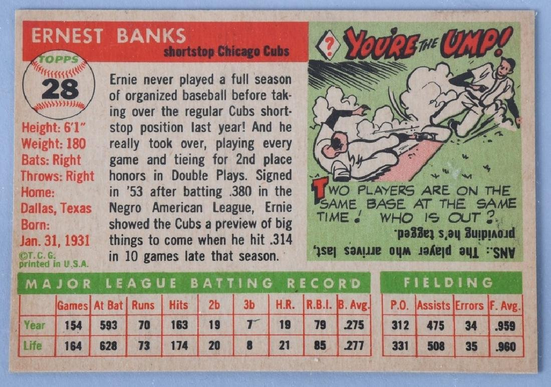 1955 TOPPS BASEBALL CARD - ERNIE BANKS - 2