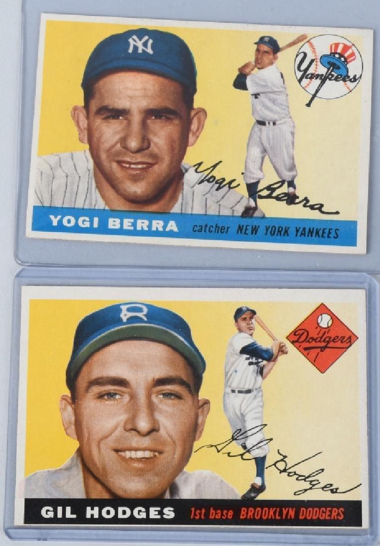 1955 TOPPS BASEBALL CARDS - BERRA & HODGES