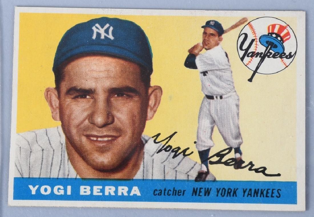 1955 TOPPS BASEBALL CARDS - BERRA & HODGES - 2