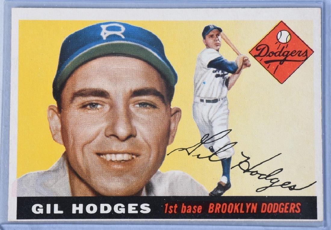 1955 TOPPS BASEBALL CARDS - BERRA & HODGES - 4