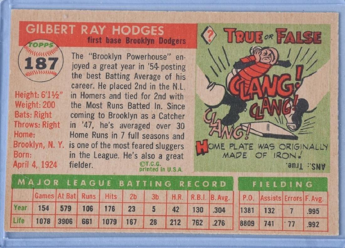 1955 TOPPS BASEBALL CARDS - BERRA & HODGES - 5