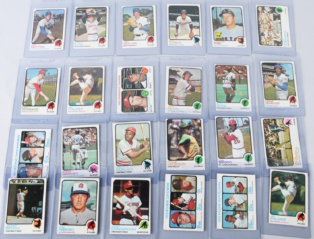 1973 TOPPS BASEBALL CARD GROUP -23 CARDS