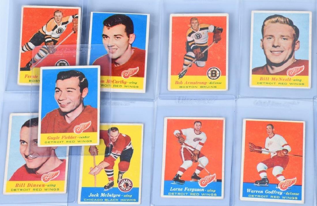 46- 1957 TOPPS HOCKEY CARDS - 6