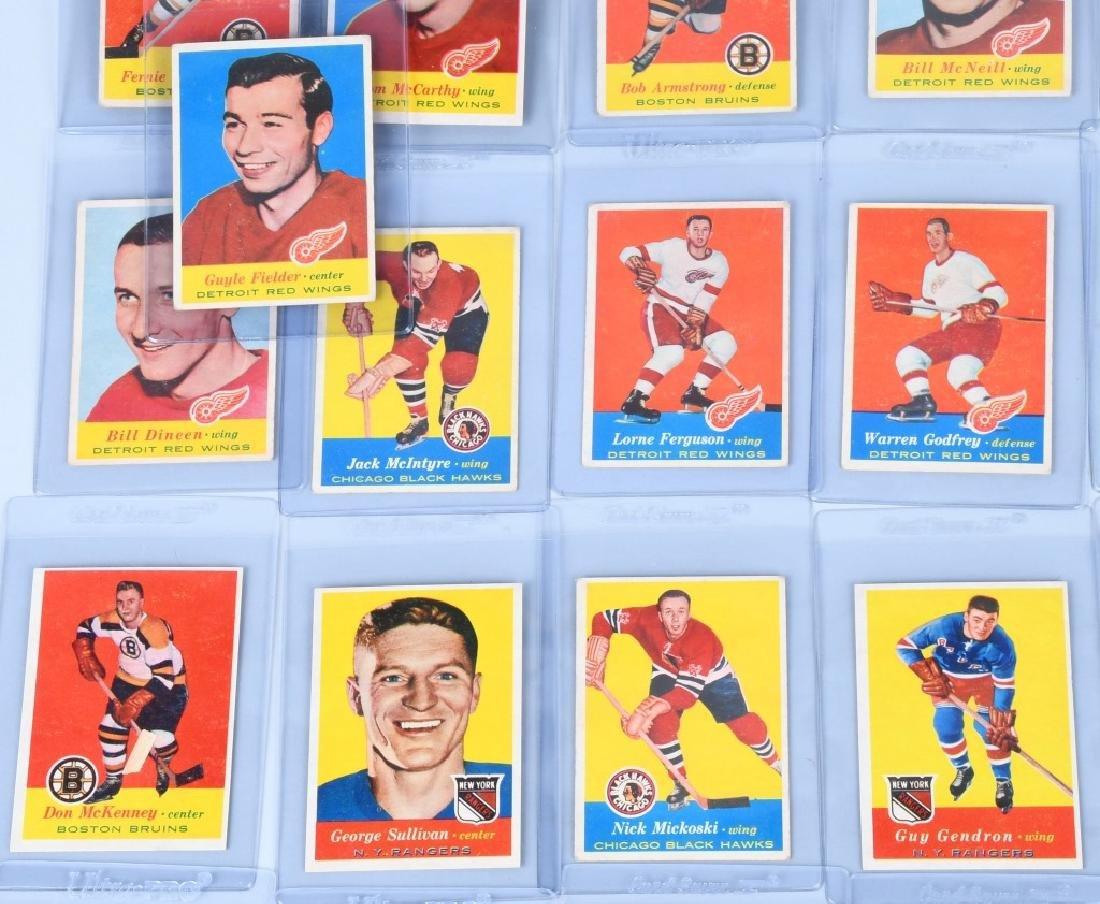 46- 1957 TOPPS HOCKEY CARDS - 7