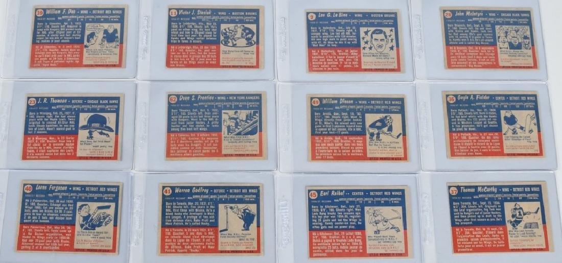 46- 1957 TOPPS HOCKEY CARDS - 8