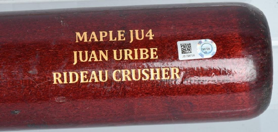JUAN URIBE GAME USED SAM BAT