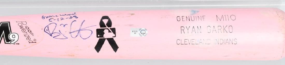 MLB RYAN GARCO GAME USED BREAST CANCER PINK BAT - 4
