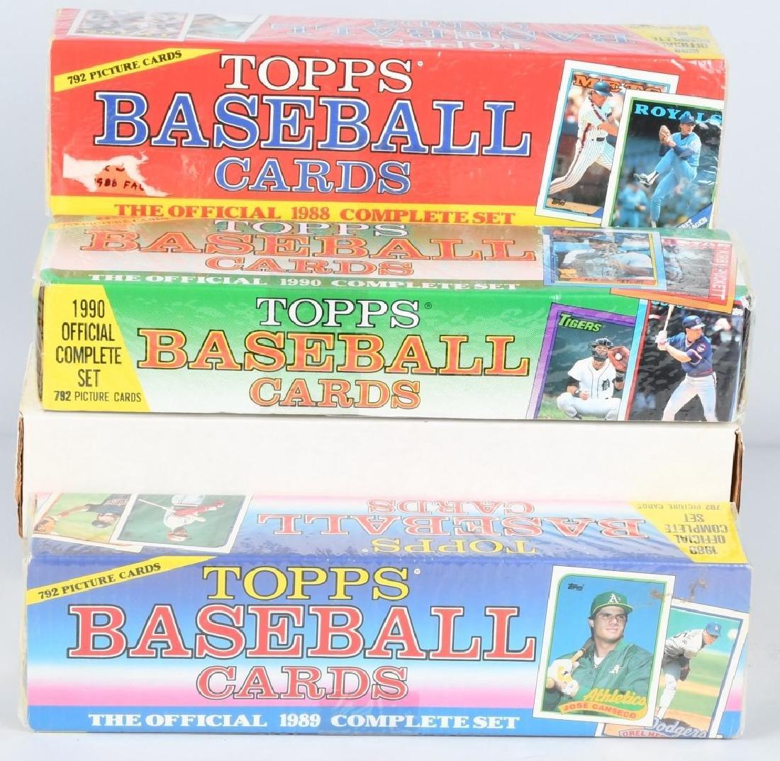 1986 THROUGH 1990 TOPPS BASEBALL COMPLETE SETS