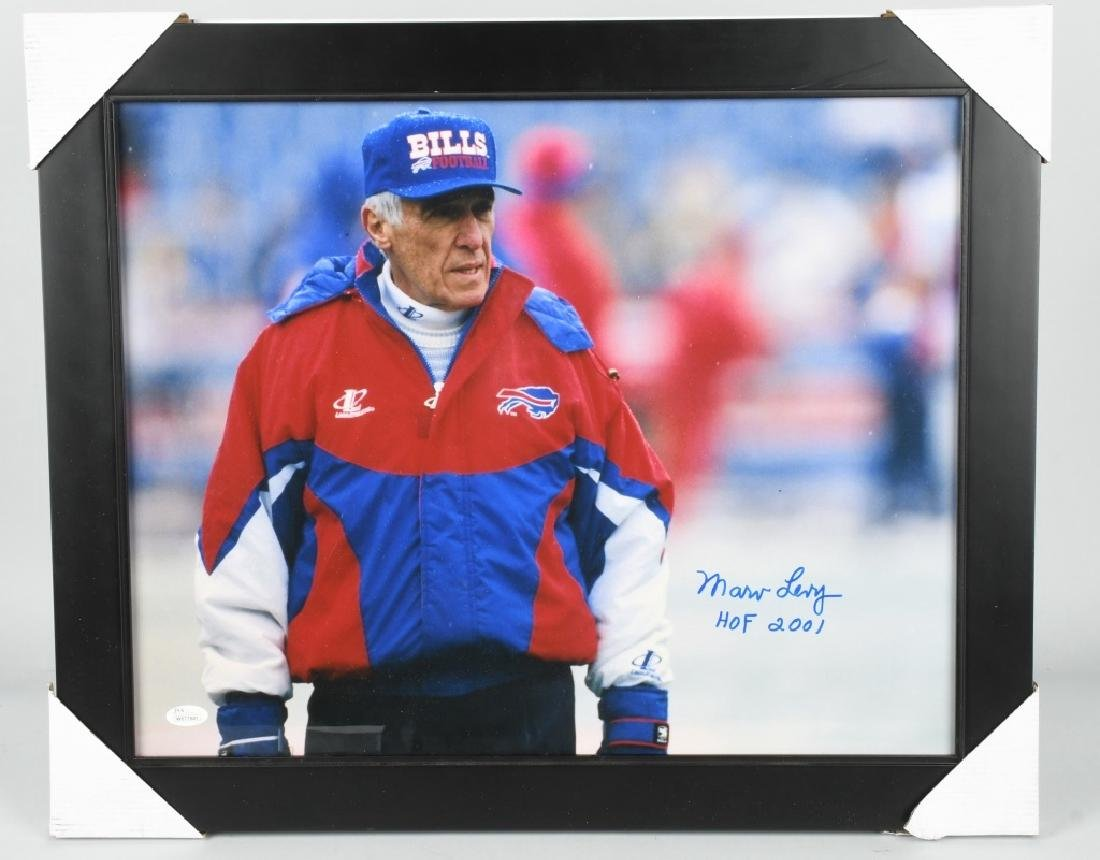 MARV LEVY BUFFALO BILLS HEAD COACH SIGNED PHOTO