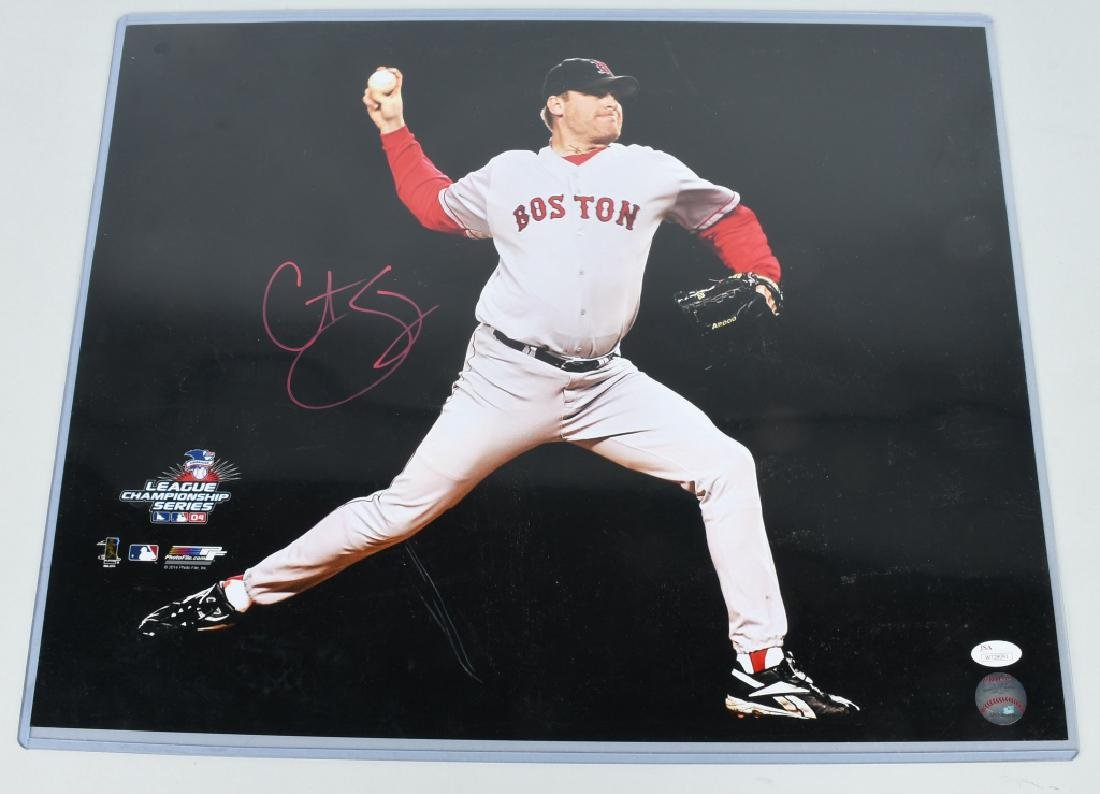CURT SCHILLING BOSTON RED SOX SIGNED PHOTO