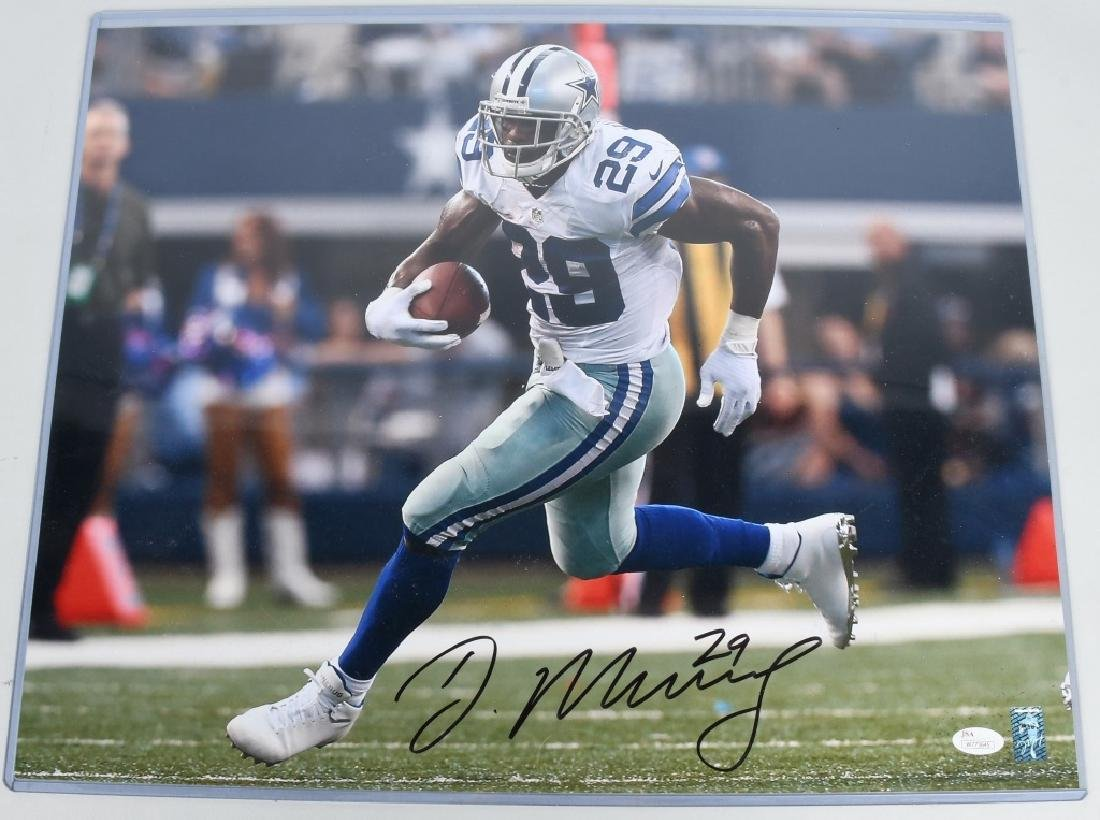 DEMARCO MURRAY COWBOYS SIGNED FOOTBALL PHOTO