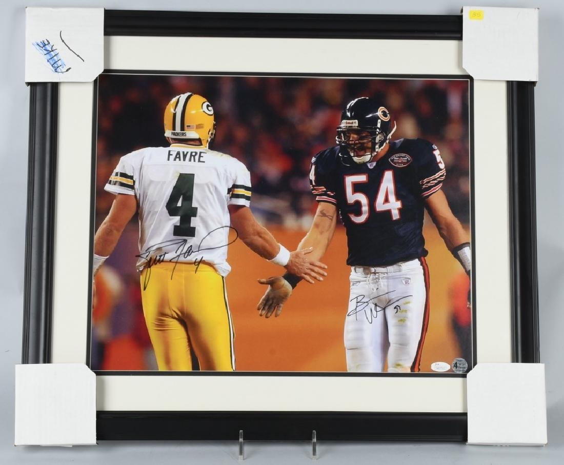 BRETT FAVRE & BRIAN URLACHER SIGNED PHOTO