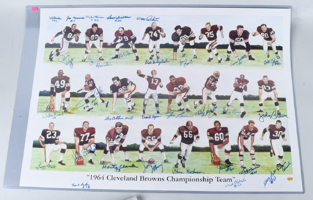 1964 BROWNS CHAMPIONSHIP SIGNED COLOR MONTAGE