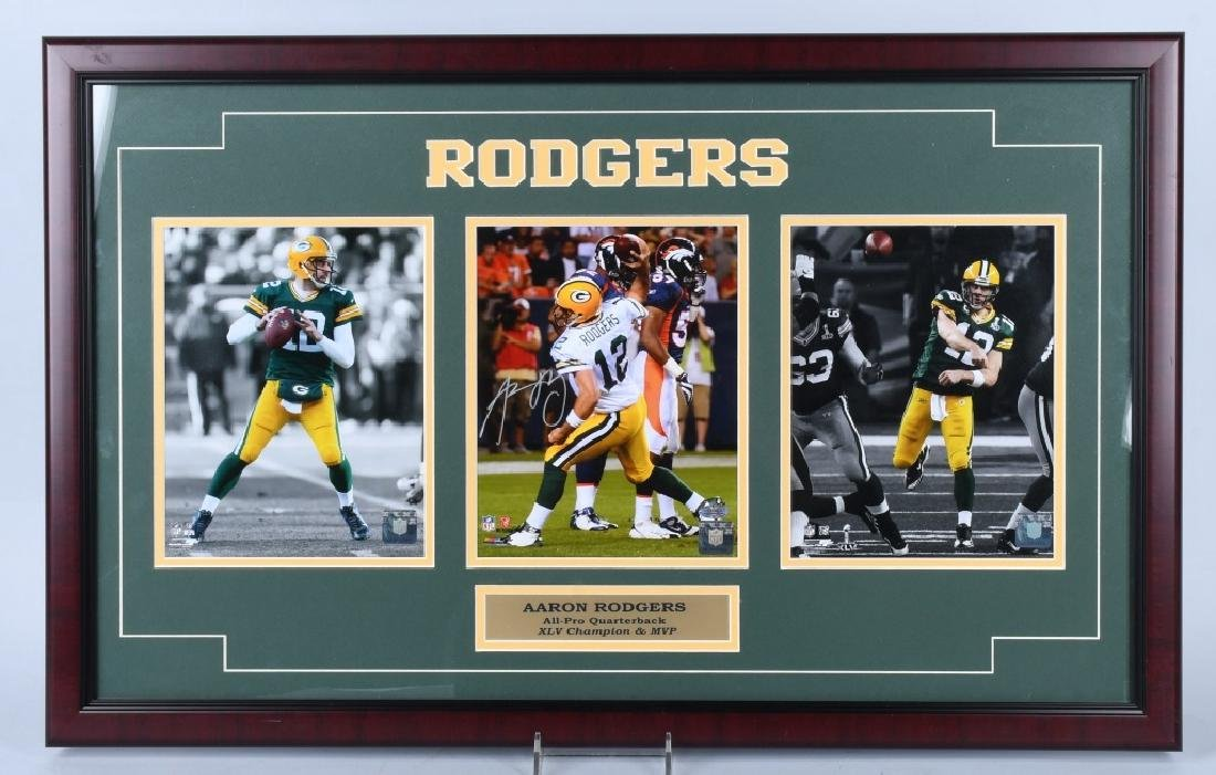 AARON RODGERS GREENBAY PACKERS SIGNED PHOTO