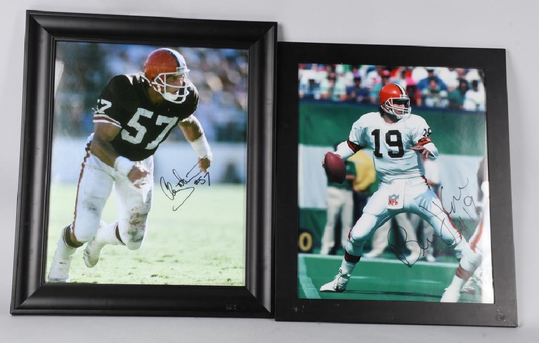 BERNIE KOSAR & CLAY MATTHEWS SIGNED PHOTOS