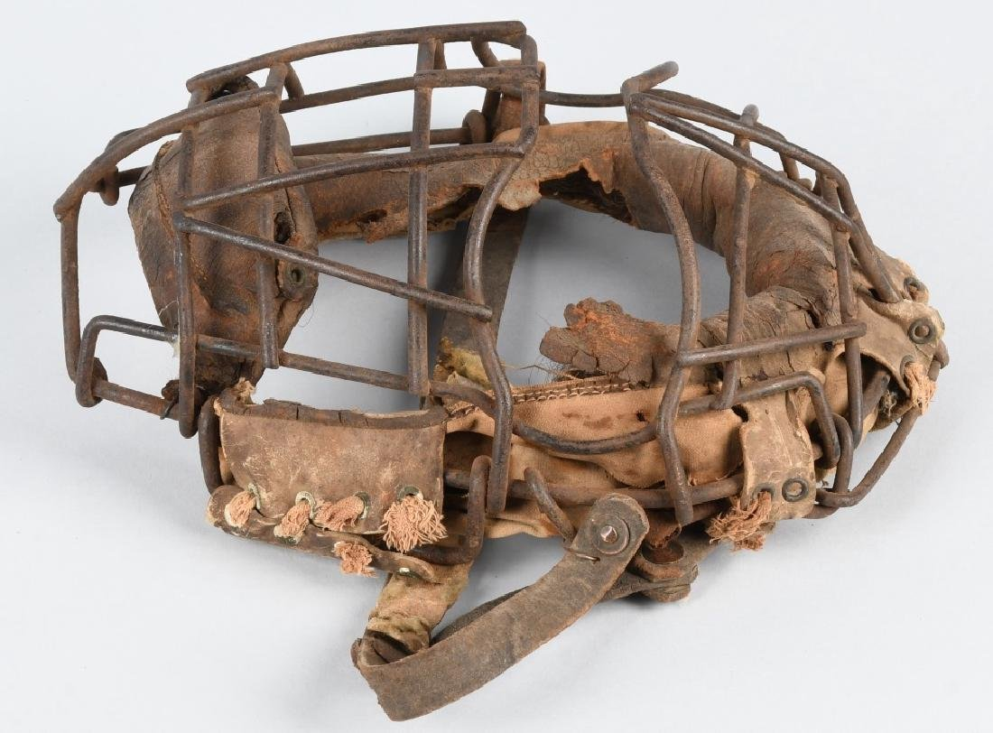 EARLY 1900s SPIDER STYLE CATCHERS MASK - 2