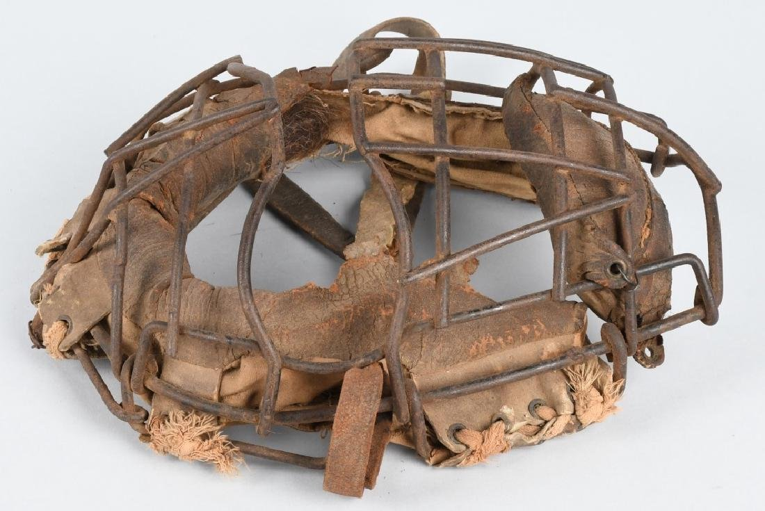 EARLY 1900s SPIDER STYLE CATCHERS MASK - 3