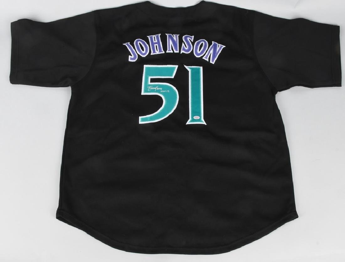 RANDY JOHNSON DIAMONDBACK AUTOGRAPHED JERSEY COA