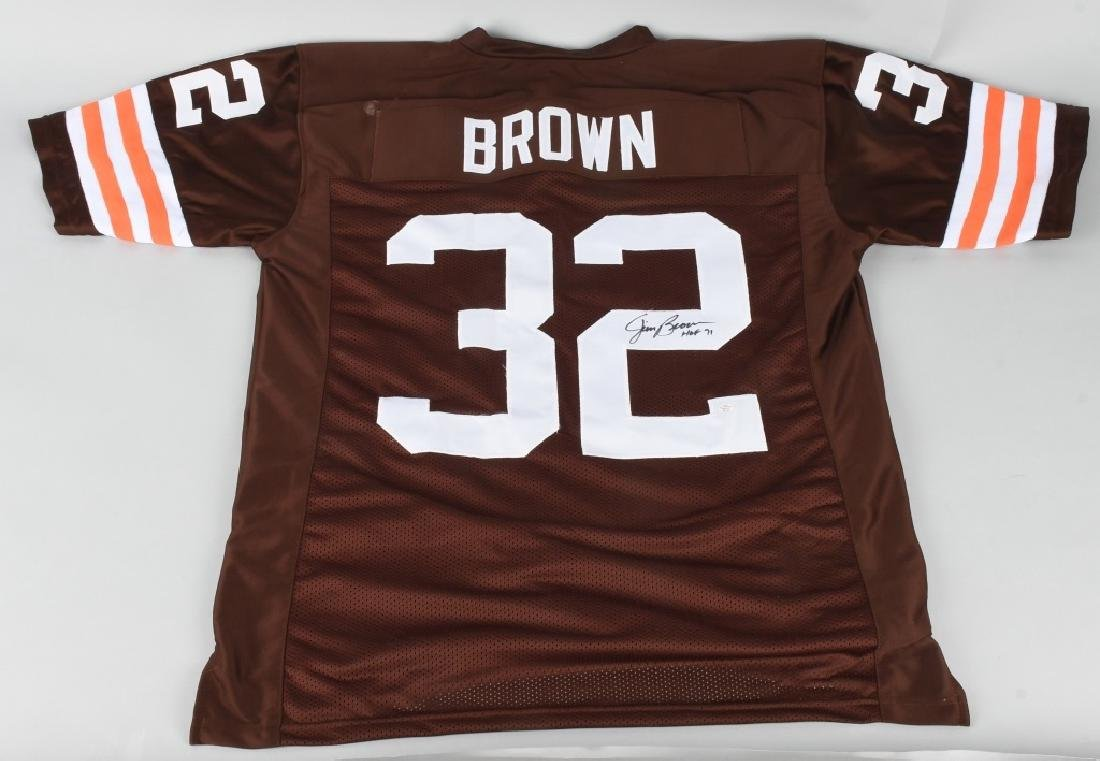 JIM BROWN CLEVEAND BROWNS AUTOGRAPHED JERSEY COA