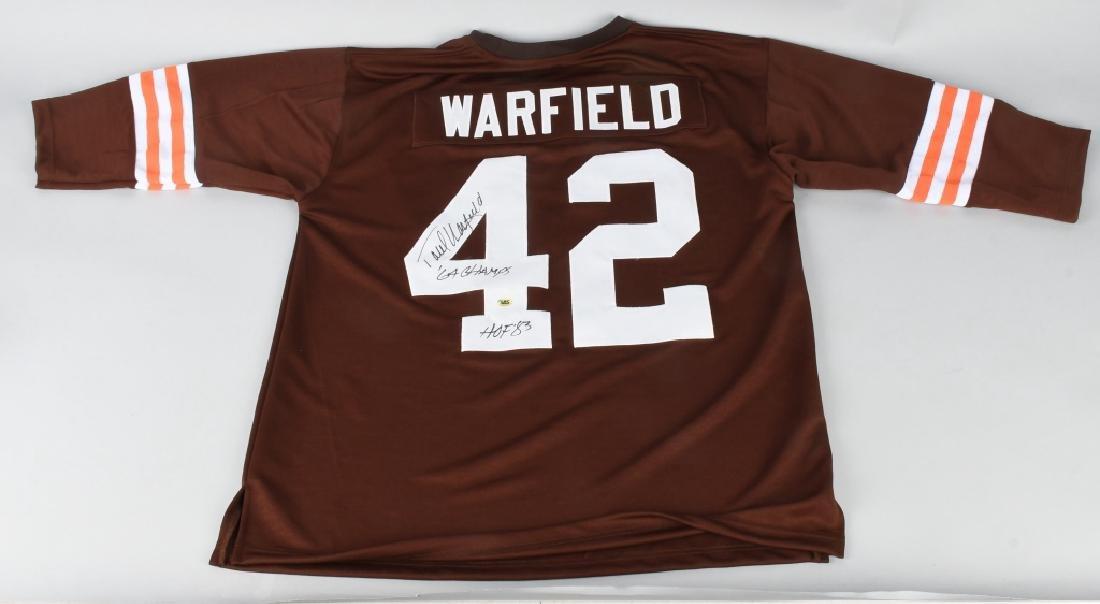 PAUL WARFIELD #42 BROWNS AUTOGRAPHED JERSEY COA