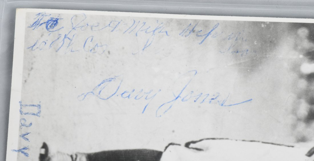 DAVY JONES PICTURE WITH AUTOGRAPH & LETTER - 2