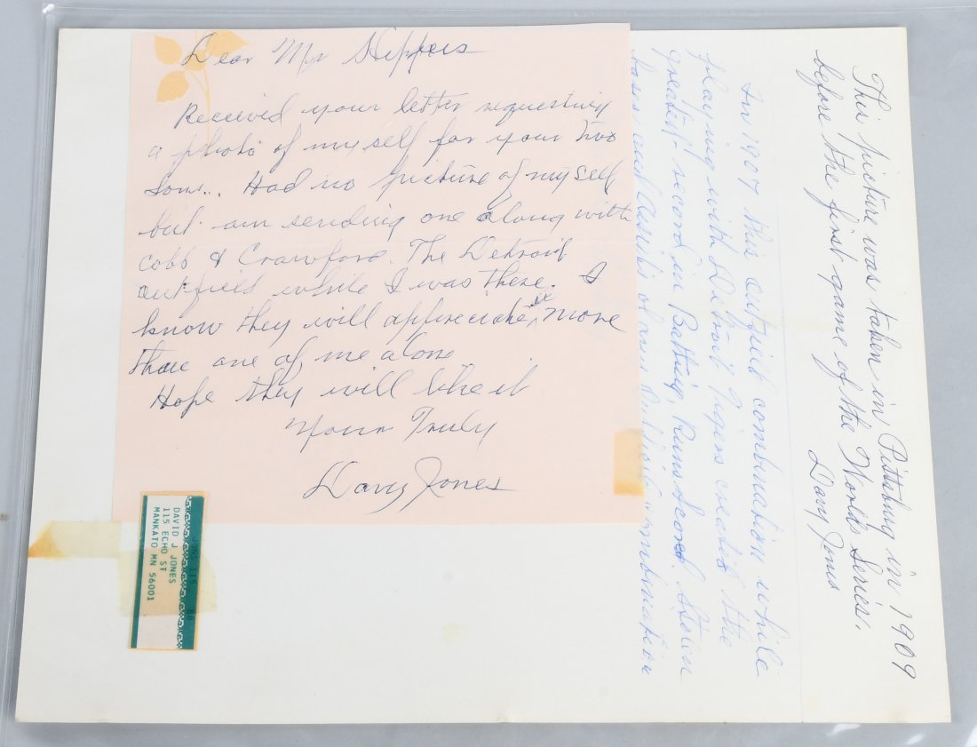 DAVY JONES PICTURE WITH AUTOGRAPH & LETTER - 3