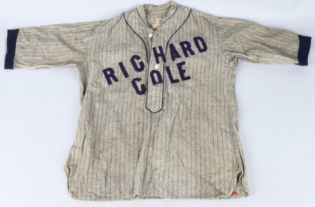 """EARLY 1900s BASEBALL UNIFORM """"RICHARD COLE"""" - 4"""