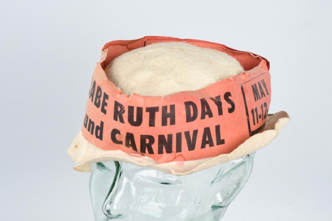 1930s BABE RUTH DAYS CARNIVAL HAT