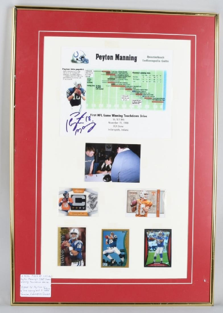 PEYTON MANNING 1st TOUCHDOWN AUTOGRAPHED COLLAGE