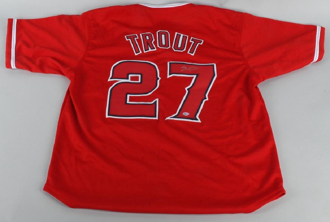 MIKE TROUT #27 AUTOGRAPHED JERSEY COA