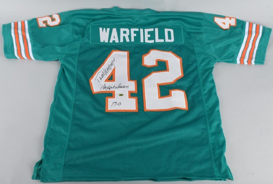 PAUL WARFIELD DOLPHINS AUTOGRAPHED JERSEY COA