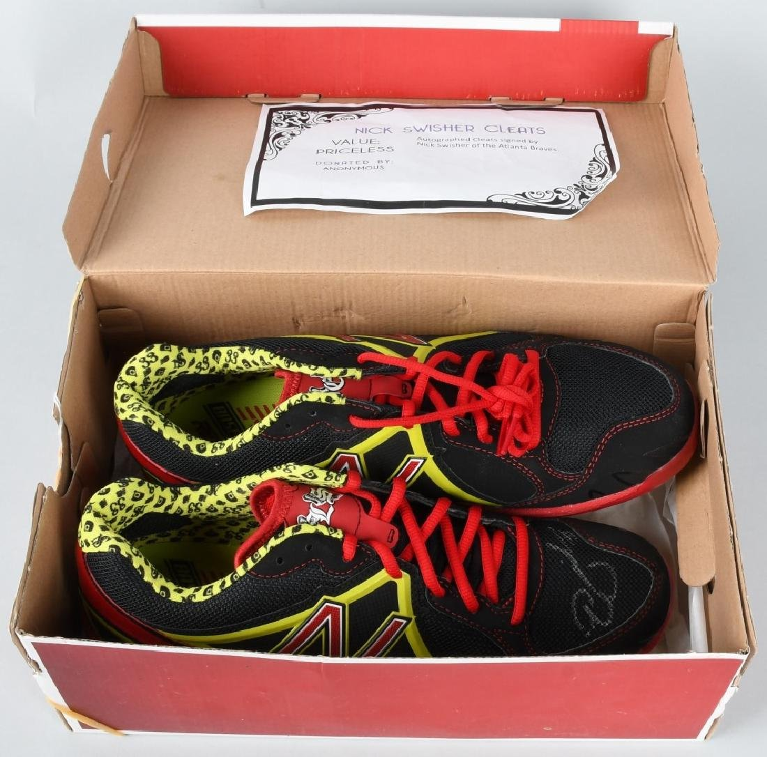 NICK SWISHER AUTOGRAPHED CLEATS - 6