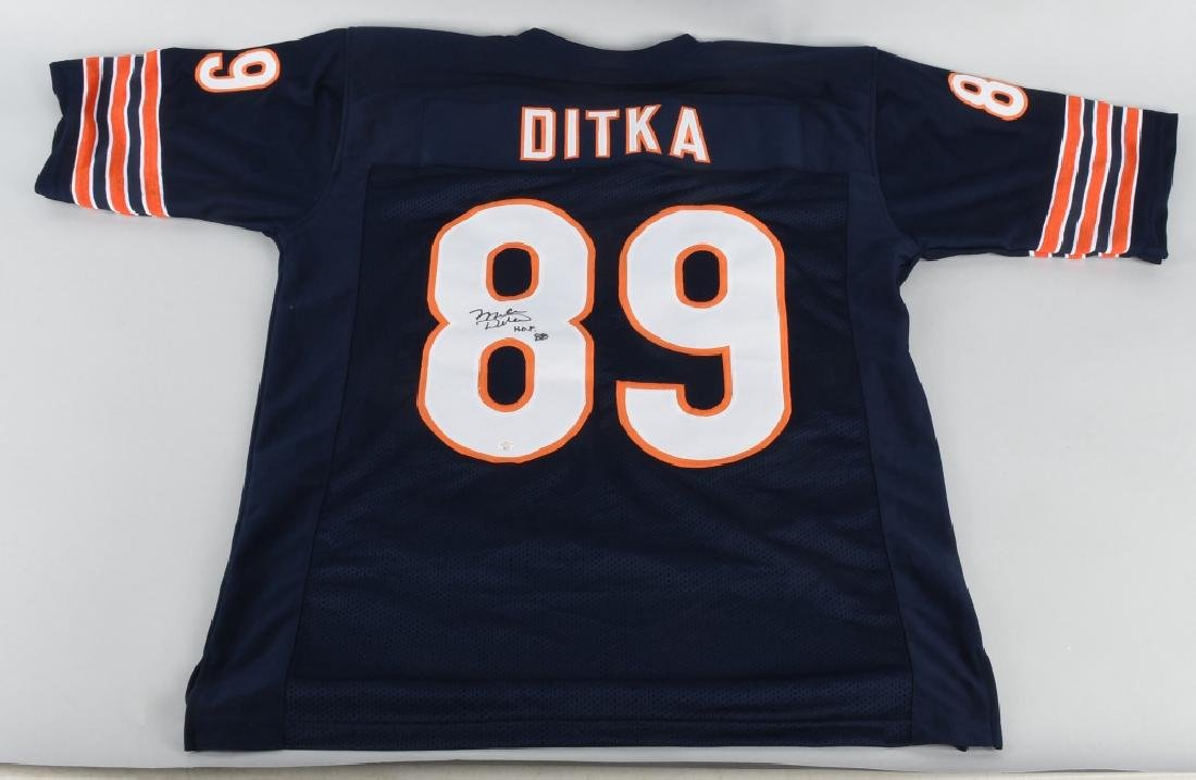 CHICAGO BEAR MIKE DITKA AUTOGRAPHED JERSEY COA