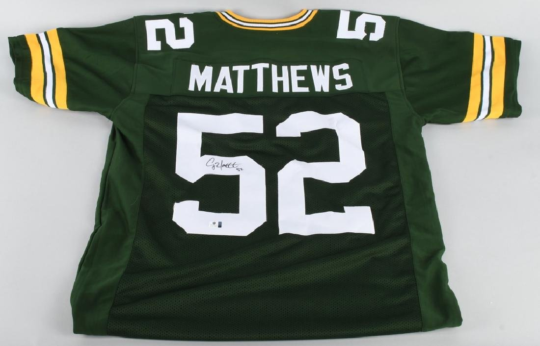 GREEN BAY CLAY MATTHEWS AUTOGRAPHED JERSEY COA