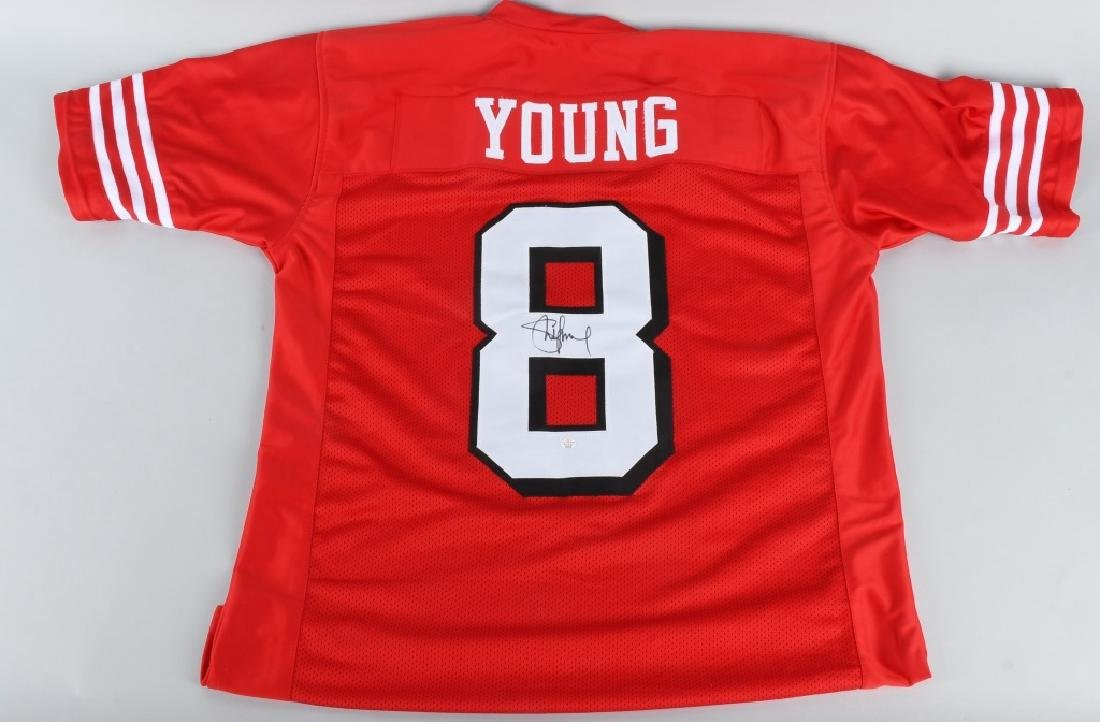 49ers STEVE YOUNG AUTOGRAPHED JERSEY COA
