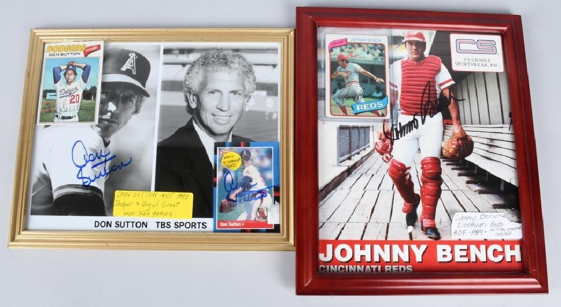 JOHNNY BENCH & DON SUTTON AUTOGRAPHED PICTURES