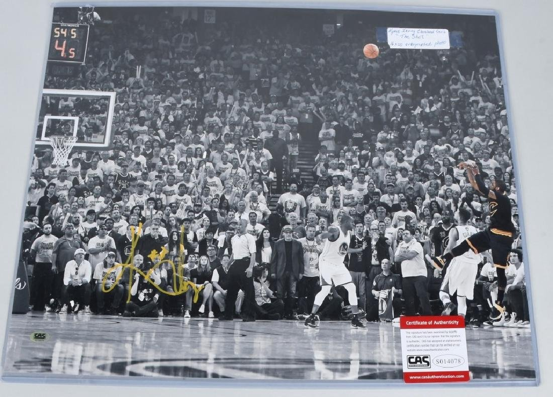 "KYRIE IRVING ""THE SHOT"" AUTOGRAPHED PICTURE"