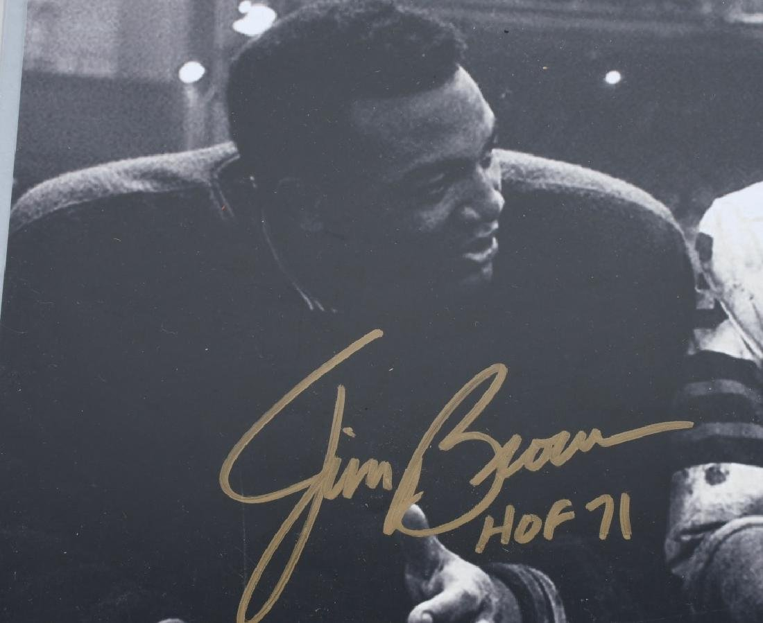 """JIM BROWN AUTOGRAPHED 20""""X16"""" PICTURE - 2"""