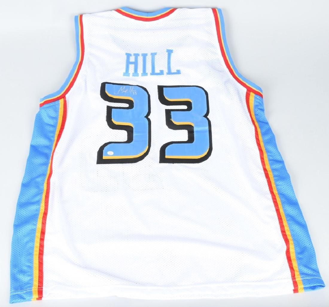PISTONS GRANT HILL AUTOGRAPHED JERSEY COA