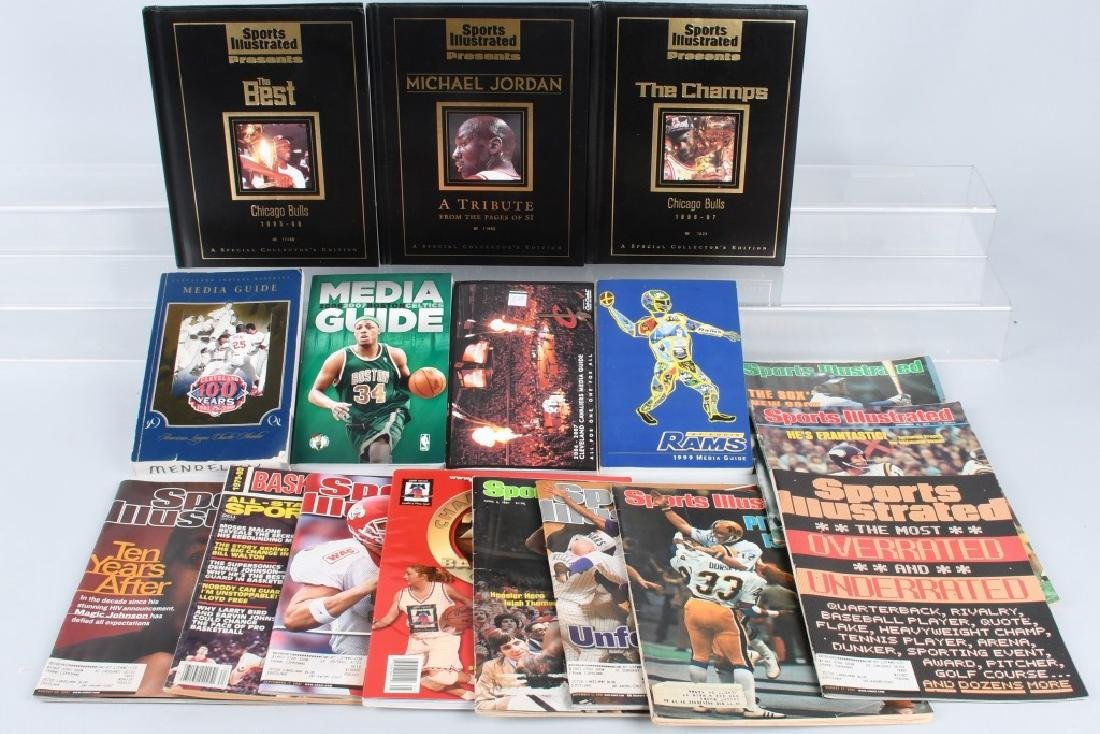 LOT OF SPORTS ILLUSTRATED BOOKS & MORE