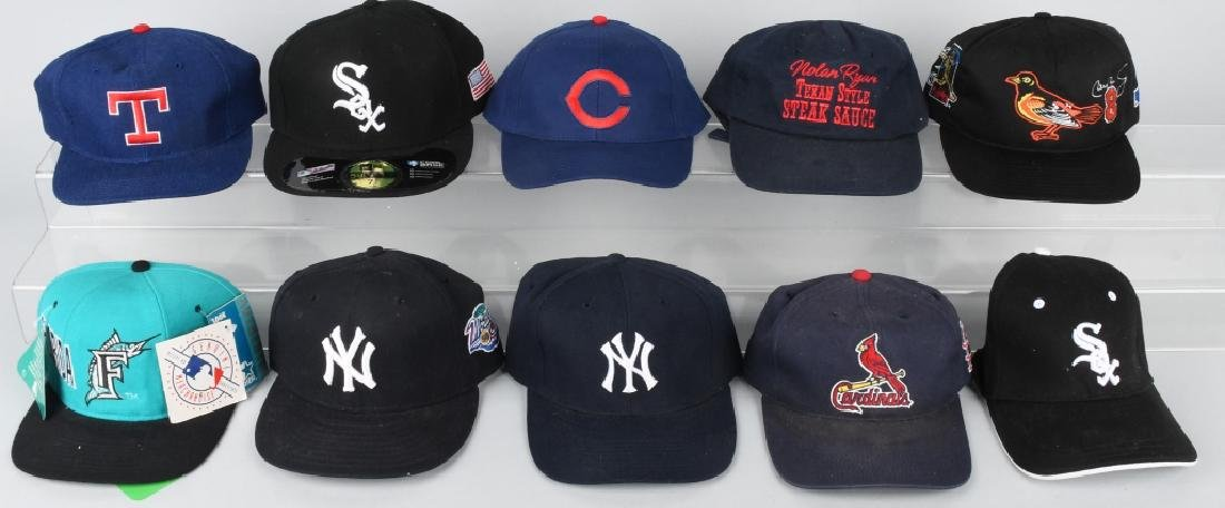 10- MAJOR LEAGUE BASEBALL CAPS