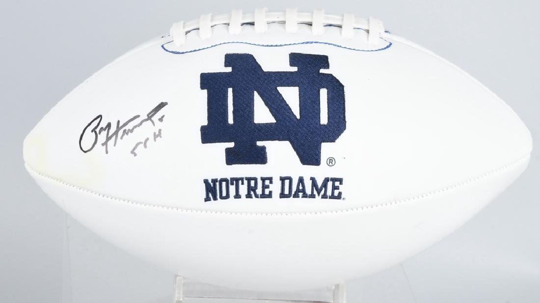 NOTRE DAME PAUL HORNING AUTOGRAPHED FOOTBALL COA