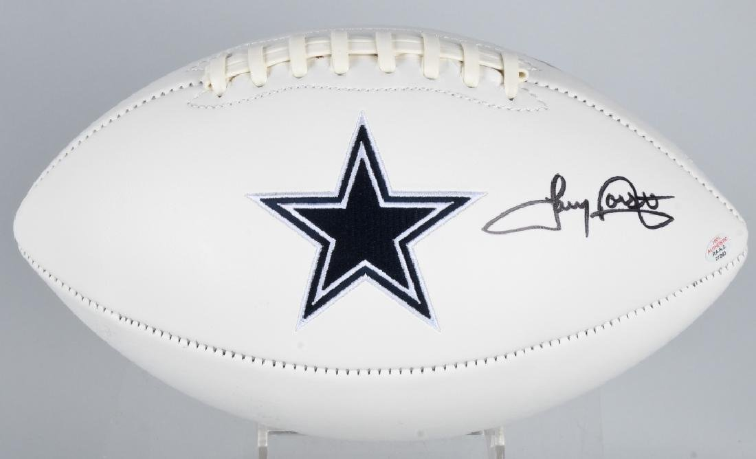 COWBOYS TONY DORSETT AUTOGRAPHED FOOTBALL COA