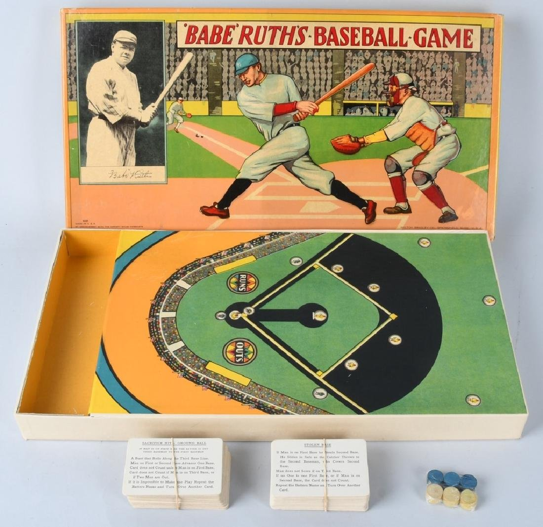 1936 BABE RUTH'S BASEBALL GAME by MILTON BRADLEY