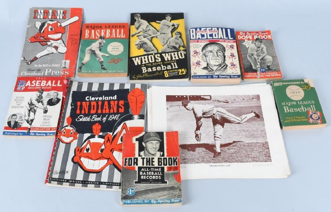 40s CLEVELAND INDIANS PROGRAMS & BASEBALL BOOKS