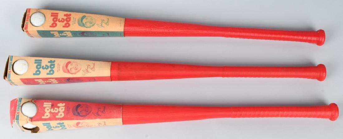 3- JOHNNY BENCH BAT & BALL SETS